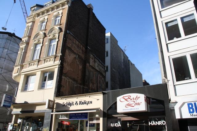 Aachen, Großkölnstraße, eine von mehreren Baulücken