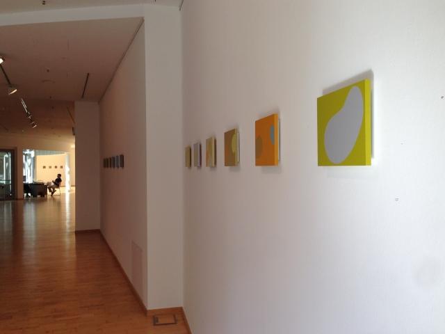 """Bilder von Irene Blume im """"Raum für Kunst"""" in Aachen."""