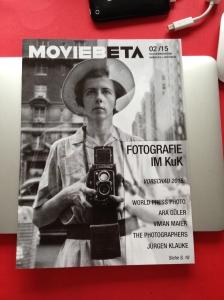 """""""Movie"""" liegt in ganz Aachen aus und informiert in seiner aktuellen Ausgabe ebenfalls über die kommenden Ausstellungen des KuK in Monschau. Im Bild: Ein Foto von Vivian Maier, es ist ein Selbstportrait."""