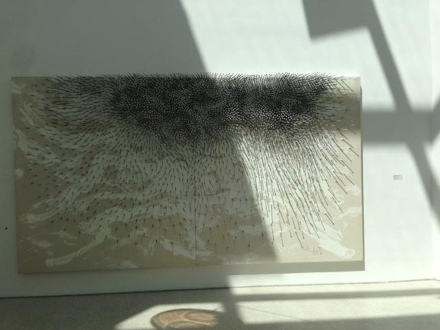 Diese große Arbeit von Günter Jecker ist ebenfalls im Leopold Hoesch Museum zu sehen.