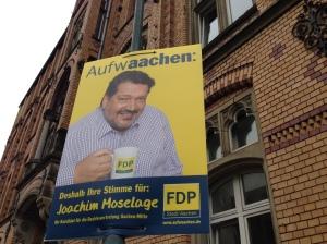 """""""Aufwaachen"""", das hält die FDP in Aachen für eine prima Wahlwerbe-Idee."""