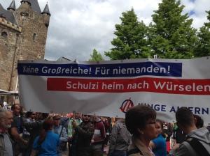Wer genau für dieses Banner verantwortlich zeichnet, ist hier nicht bekannt. AfD?