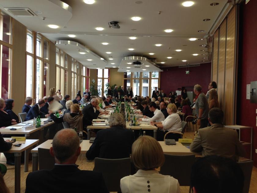 Das Parlament der Städteregion Aachen bei seiner ersten Sitzung nach der Kommunalwahl.