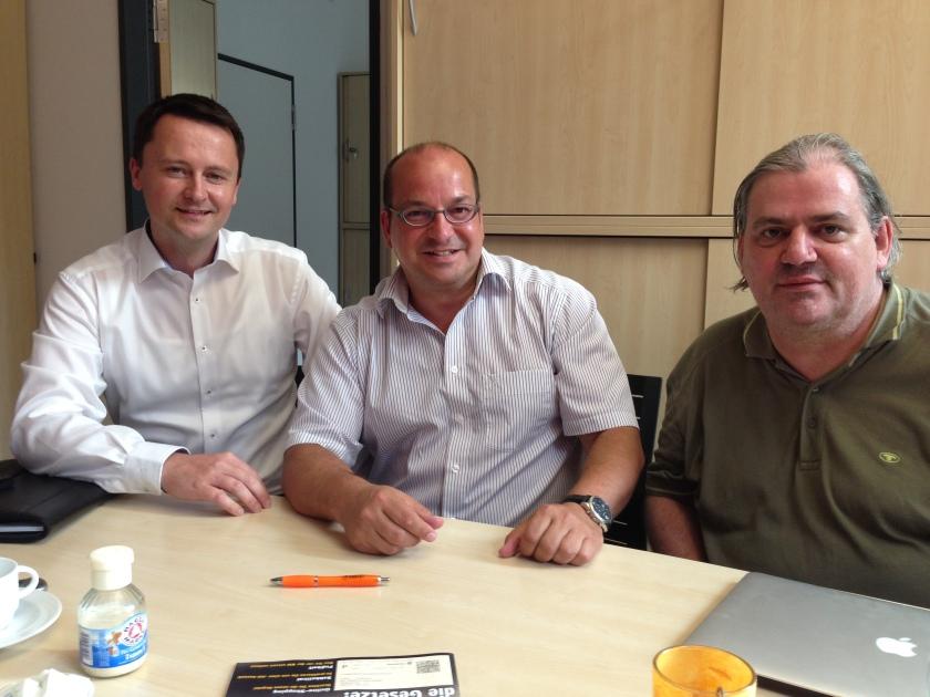 Udo Rüttgers (Pirat), Hans Jürgen Fink (UFW) und Bertram Eckert (Pirat) sind jetzt als Fraktion in der StädteRegion Aachen aktiv.
