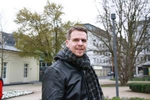 Udo Pütz, Fraktionsvorsitzender der Piraten im Rat  der Stadt Aachen. Das Bild entstand im Frühjahr.