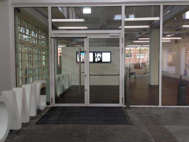 Der neue Eingang vom Ludwig Forum in Aachen.