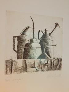 Eine Arbeit aus 1983 von Johanna Buchholz, die in Belgien und in Italien lebt.