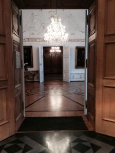 Blick in den Weißen Saal, wo Empfänge stattfinden.