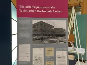 Für RWTH war Wirtschaftsspionage schon immer ein Thema. Das zeigt eine Ausstellung über die Stasi, die noch bis zum 26. Mai im Gerichtsgebäude am Adalbertsteinweg in Aachen zu sehen ist.