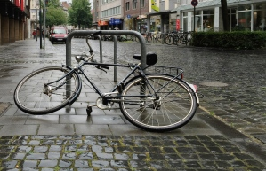 Fahrrad, Kleinmarschierstraße in Aachen