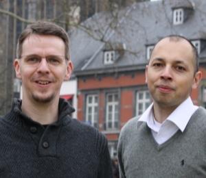 Udo pütz (l.9 und Marc Teuku, Piratenpartei.
