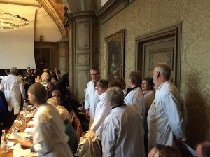 """Ärzte bei ihrem """"Hausbesuch"""" im Rathaus. Wenn Mediziner aktiv werden, muss die Lage wirklich ernst sein."""