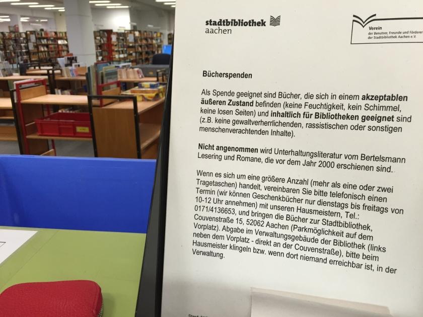 Infos zur Bücherspende.