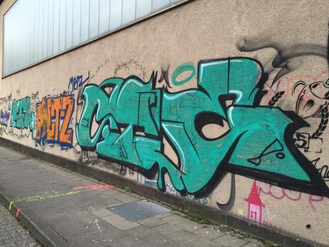Graffiti in der Claßenstraße.