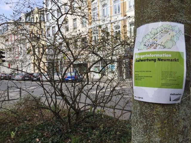 Man kann nicht sagen, dass für die Veranstaltung massiv geworben wurde. Im Gegenteil: Im Frankenberger Viertel habe ich nur zwei (!) dieser Flugblätter gesehen.