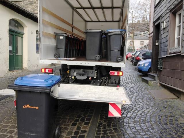 Eine neue Mülltonne für jedes Haus. Und das nicht nur in Aachen, sondern auch in Monschau.