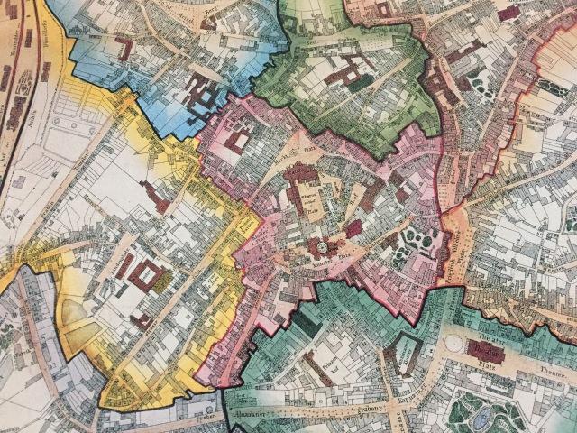 Wir wissen nicht, wie weit zurück die Ultrarechten gehen wollen, aber hier ist schon mal eine alte Karten von Aachen, als Burtscheid noch nicht zu Aachen gehörte.