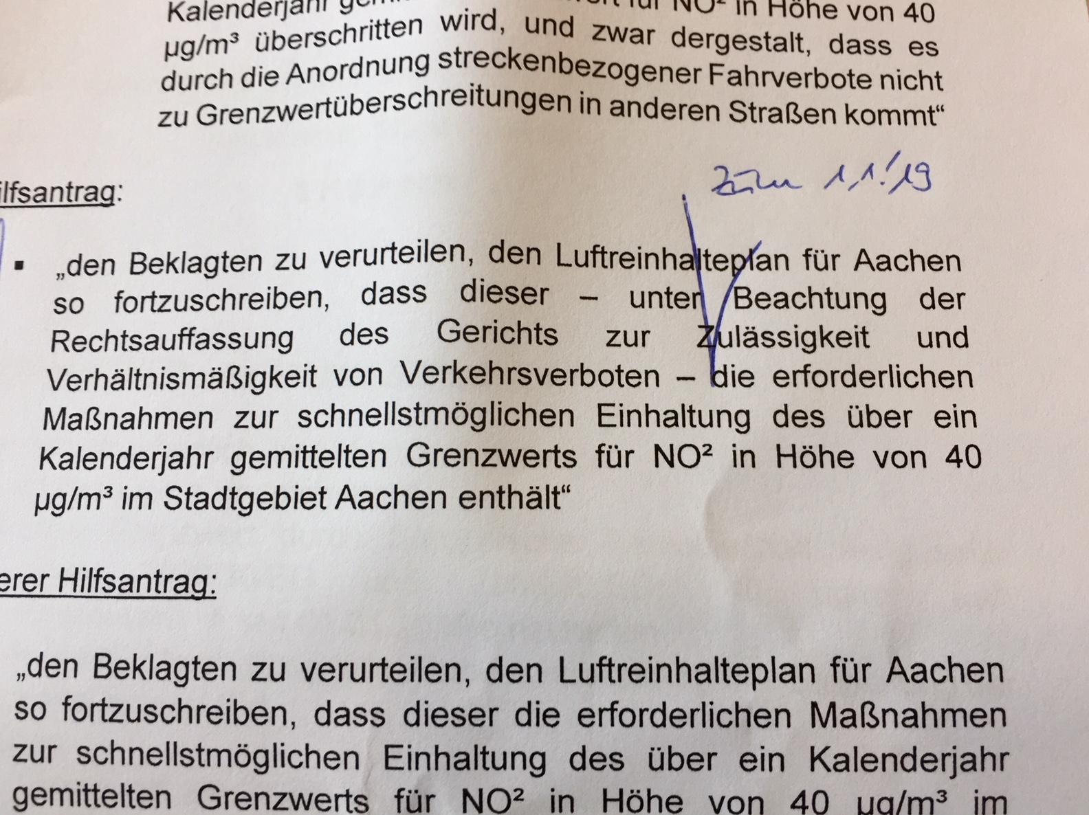 Gericht: In Aachen kann nur ein Fahrverbot für Diesel noch helfen