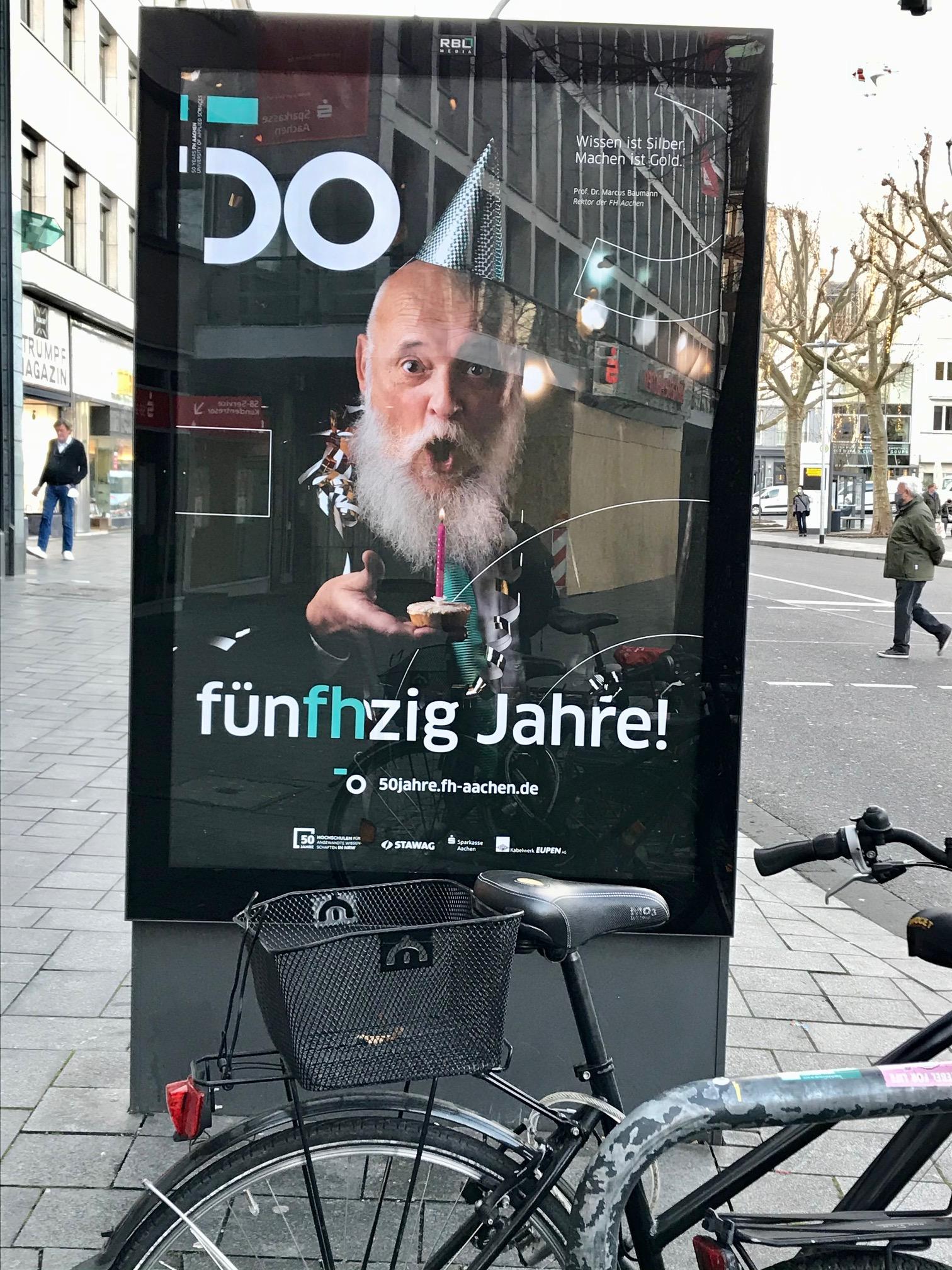 """""""Wissen ist Silber – Machen ist Gold"""" Die Fachhochschule Aachen wird 50."""